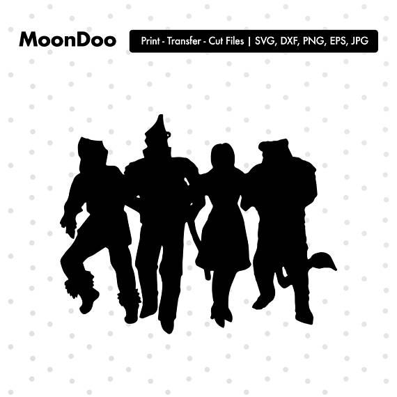 The Wizard Of Oz Silhouette The Wizard Of Oz Svg Svg For Wizard Of Oz Characters Silhouette Paper Wizard Of Oz