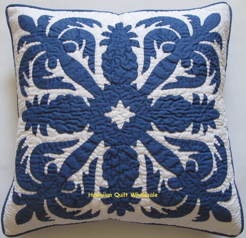 Hawaiian Pillow Cover - Coconut/Pineapple | Quilts - Hawaiian ...