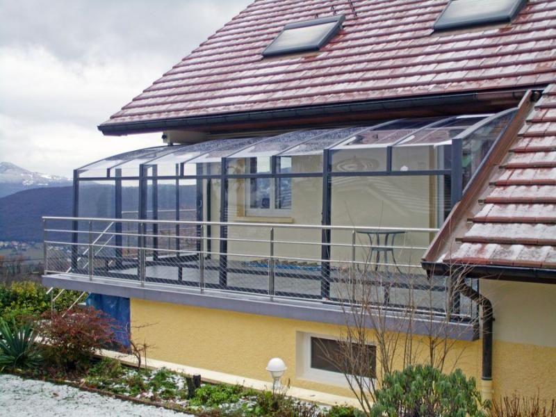 Struttura in alluminio con le vetrate panoramiche | GLASS BALCONY ...