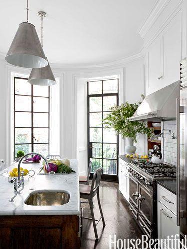 A Proper Boston Brownstone Kitchen Design House Interior Home