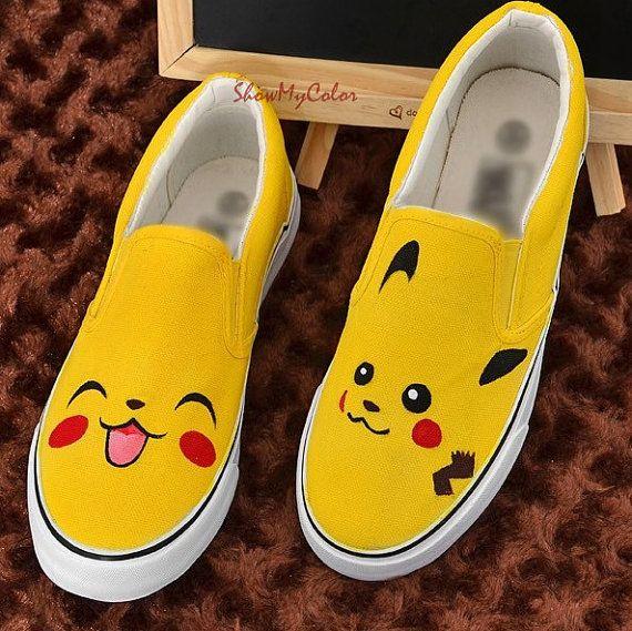 6a1d69532ef2 Pikachu Anime Shoes pokemon Canvas Shoes Pikachu von ShowMyColor ...