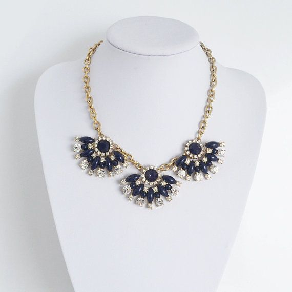 NewFashion Jewelry Navy color Resin Fan Flower by idealmall, $21.95