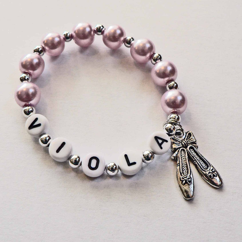 Ballet Charm Bracelet: Ballet Party Favor Name Bracelet Jewelry. PERSONALIZED