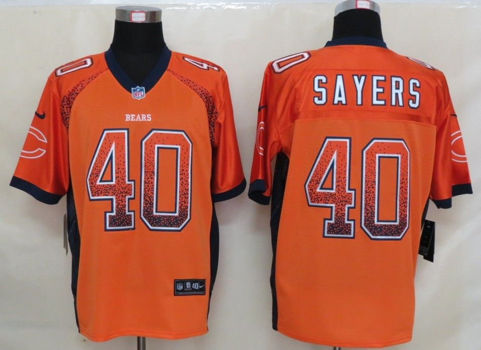 chicago bears new uniforms 2013 new nike chicago bears 40 sayers drift fashion orange elite .