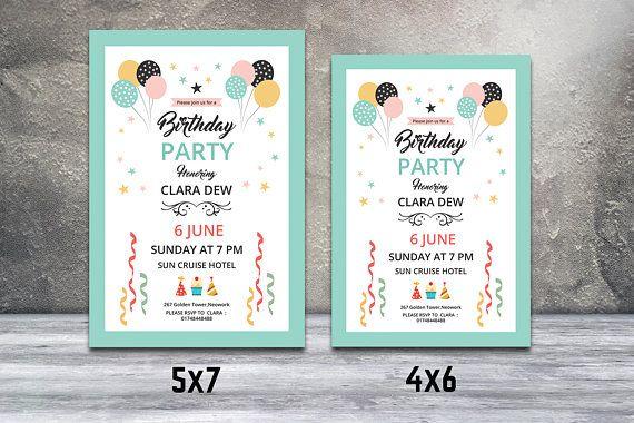 Birthday Party Flyer Birthday Invitation Card Template Photoshop - birthday invitation card template photoshop