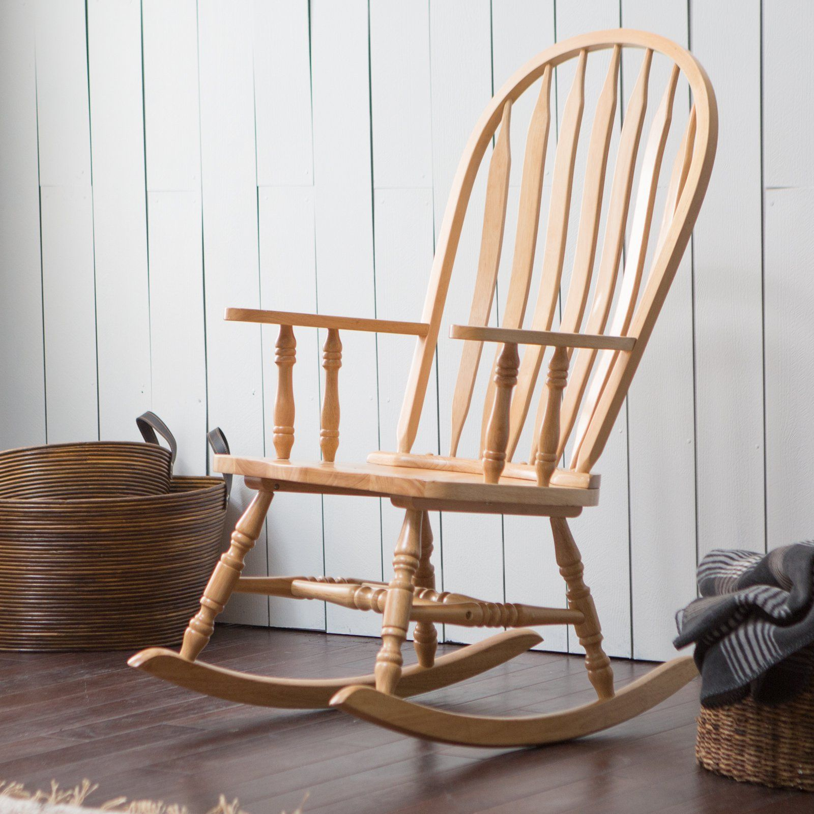 Belham Living Windsor Indoor Wood Rocking Chair Natural Chairs At Hayneedle