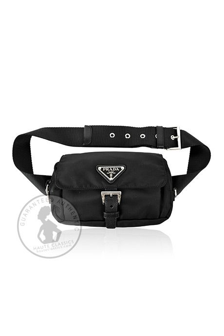 b88c6ff838e6 PRADA Black Nylon Fanny Pack - Haute Classics - Authentic Luxury Designer  Consignment
