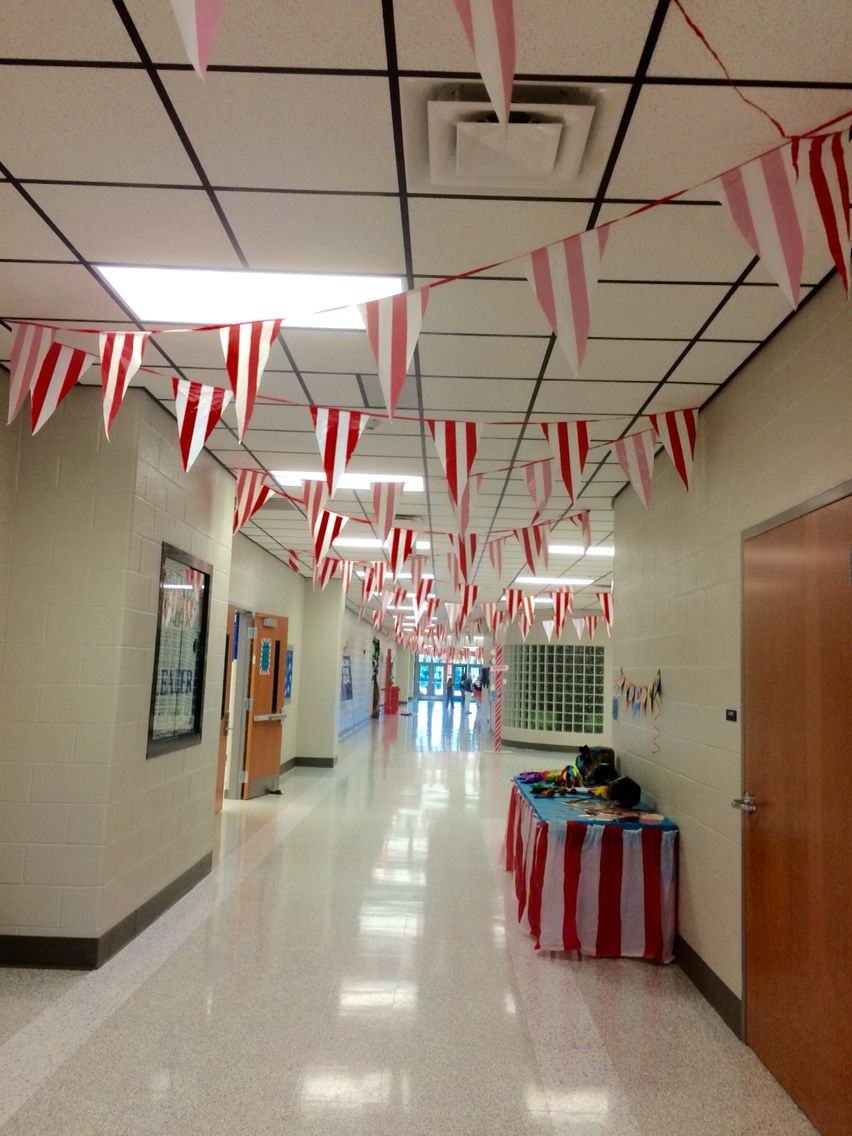 School Carnival Setup In The Hallway Right Outside My