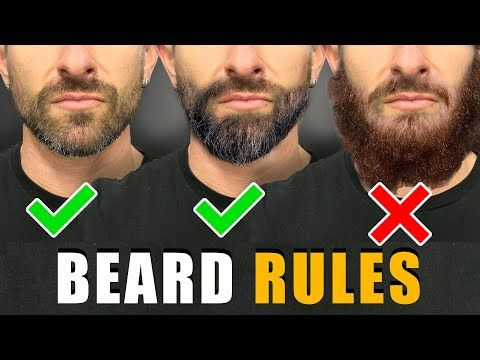 7 Beard Rules EVERY GUY SHOULD FOLLOW! (For a BETT