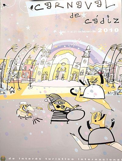 Cartel Carnaval de Cadiz año 2010