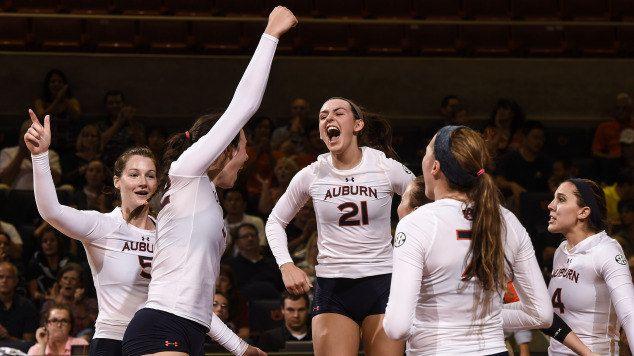 Auburn Volleyball Opens 2015 With War Eagle Invite Auburn University Athletics