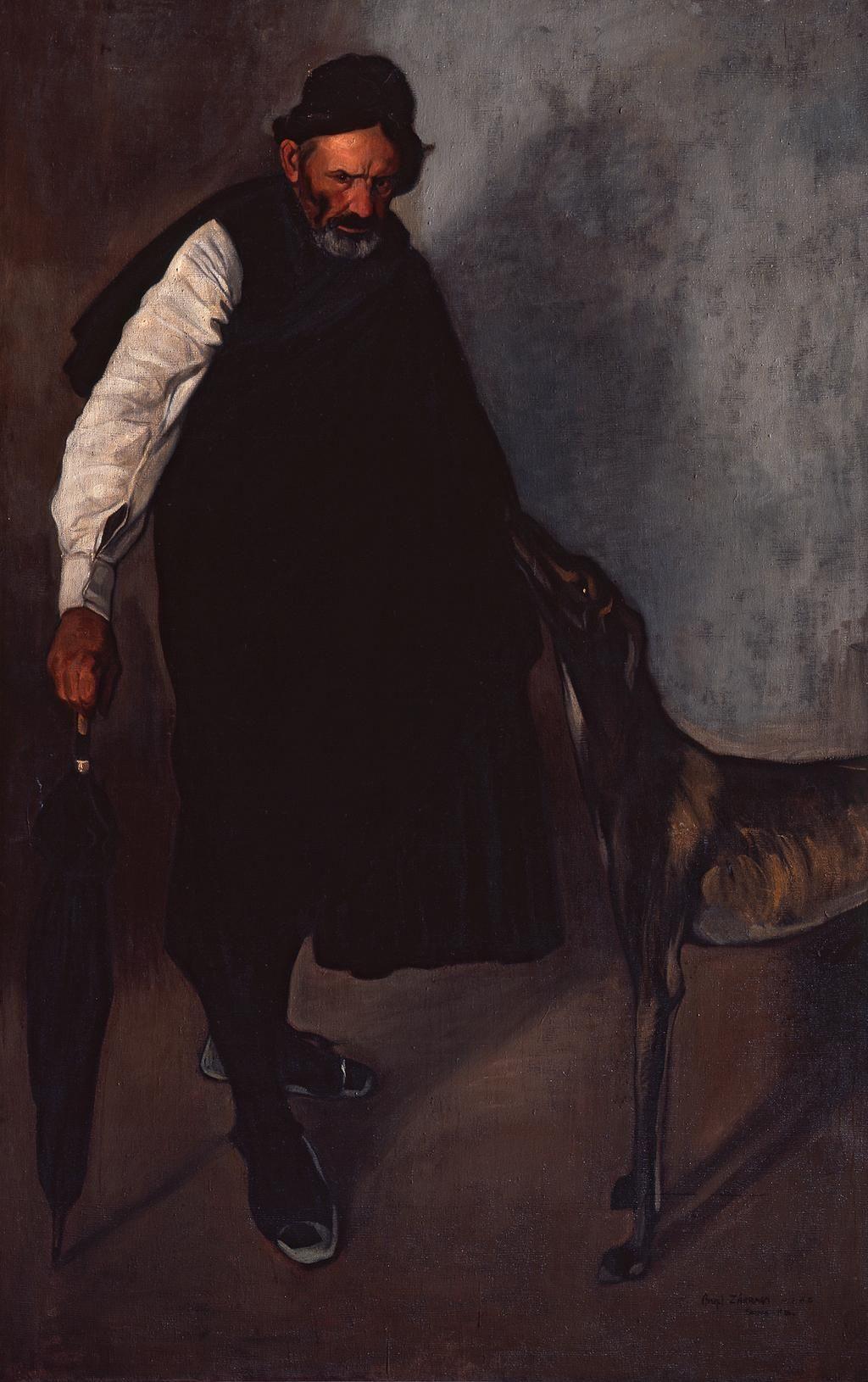 Para esta tarde de lluvia, 'El hombre del paraguas' (1906) de Félix Parra. #ColecciónMUNAL