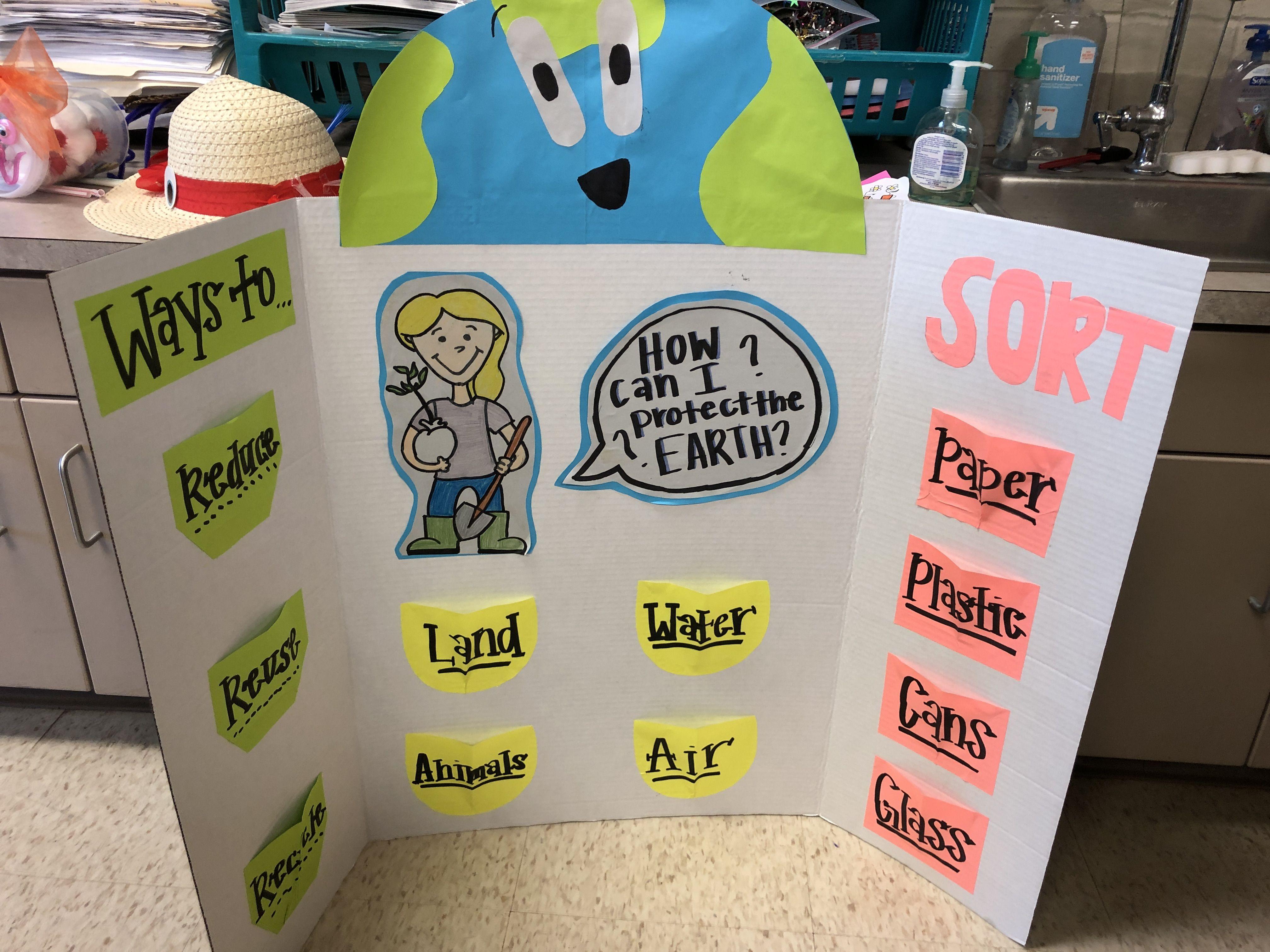 earth day sorting board i used a big