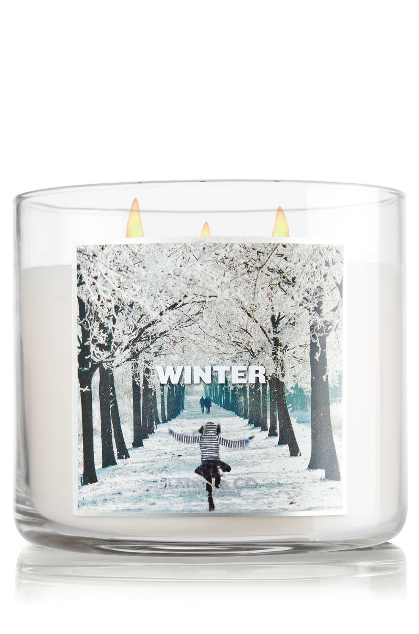 Winter 14.5 oz. 3-Wick Candle - Slatkin & Co. - Bath ...