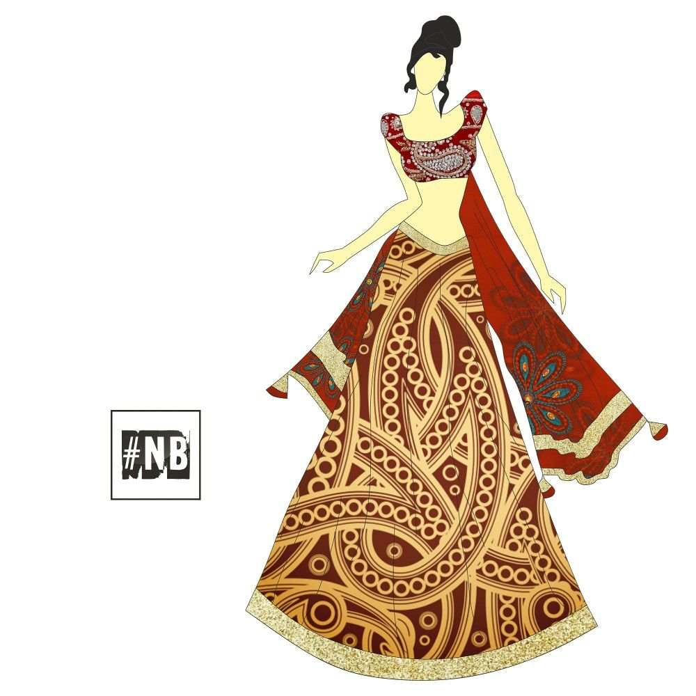 5700d7670f4  indian  traditional  wear for  friends of the  bride  print  maroon  color   fashion  style  nb  nikhilbharoliya  designs  illustration Follow me on ...