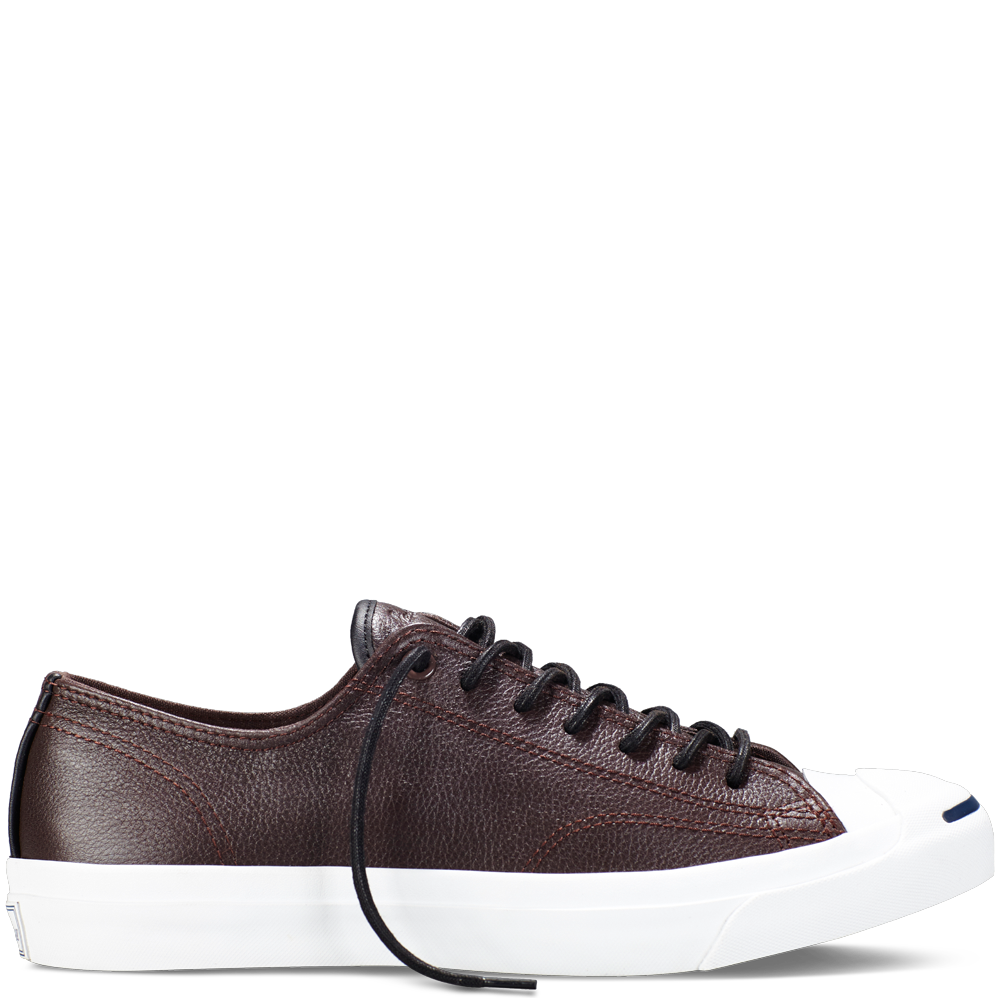 2067e74263d537 Converse - Jack Purcell Tumbled Leather -Burnt Umber - Low Top ...