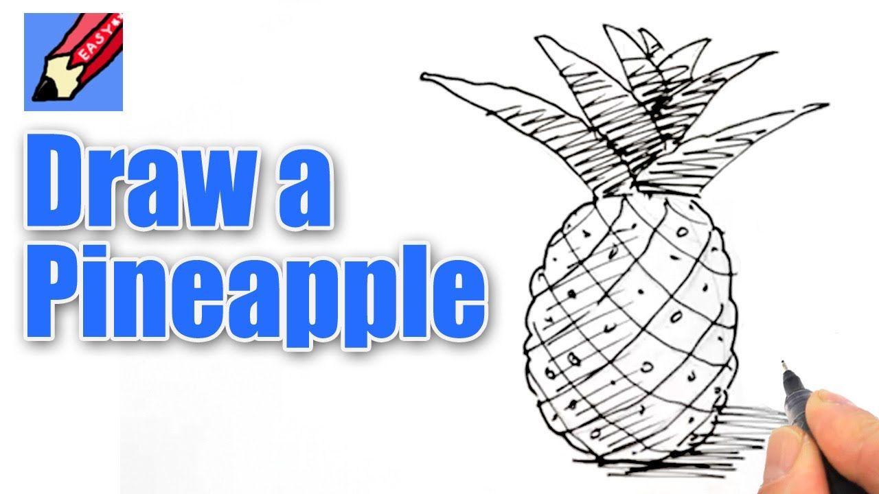 How To Draw A Pineapple Drawing Videos Draw Easy