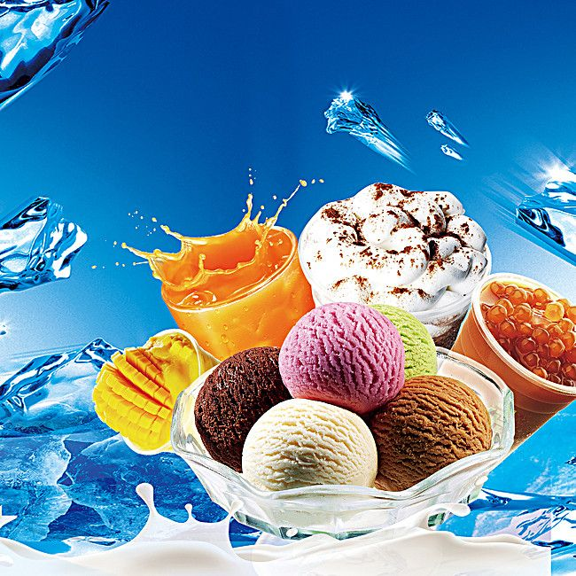 Ice Cream Images Ice Creams Wallpaper And Background: Creative Fresh Ice Cream Poster Background