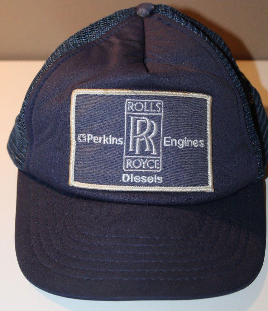 Rolls Royce Perkins Engines Diesels Cap Hat Vintage Snapback  RollsRoyce   Hat 95c98dcdfa27