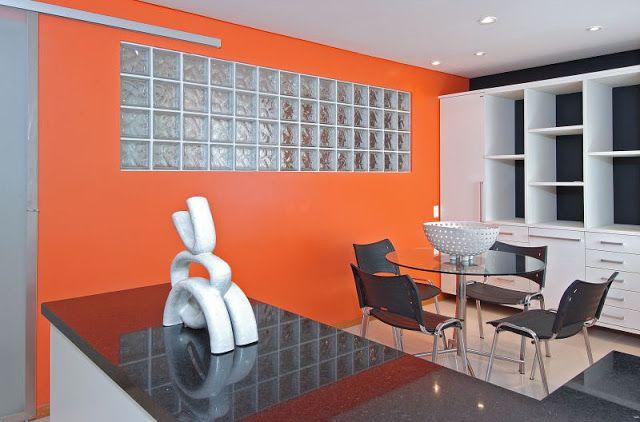 Fußboden Teppich Yasin ~ Blocos de vidro ou tijolo de vidro na cozinha sala de jantar