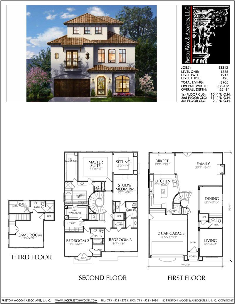 2 1 2 Story Urban House Plan E3084 Home Design Plans House Plans House Blueprints