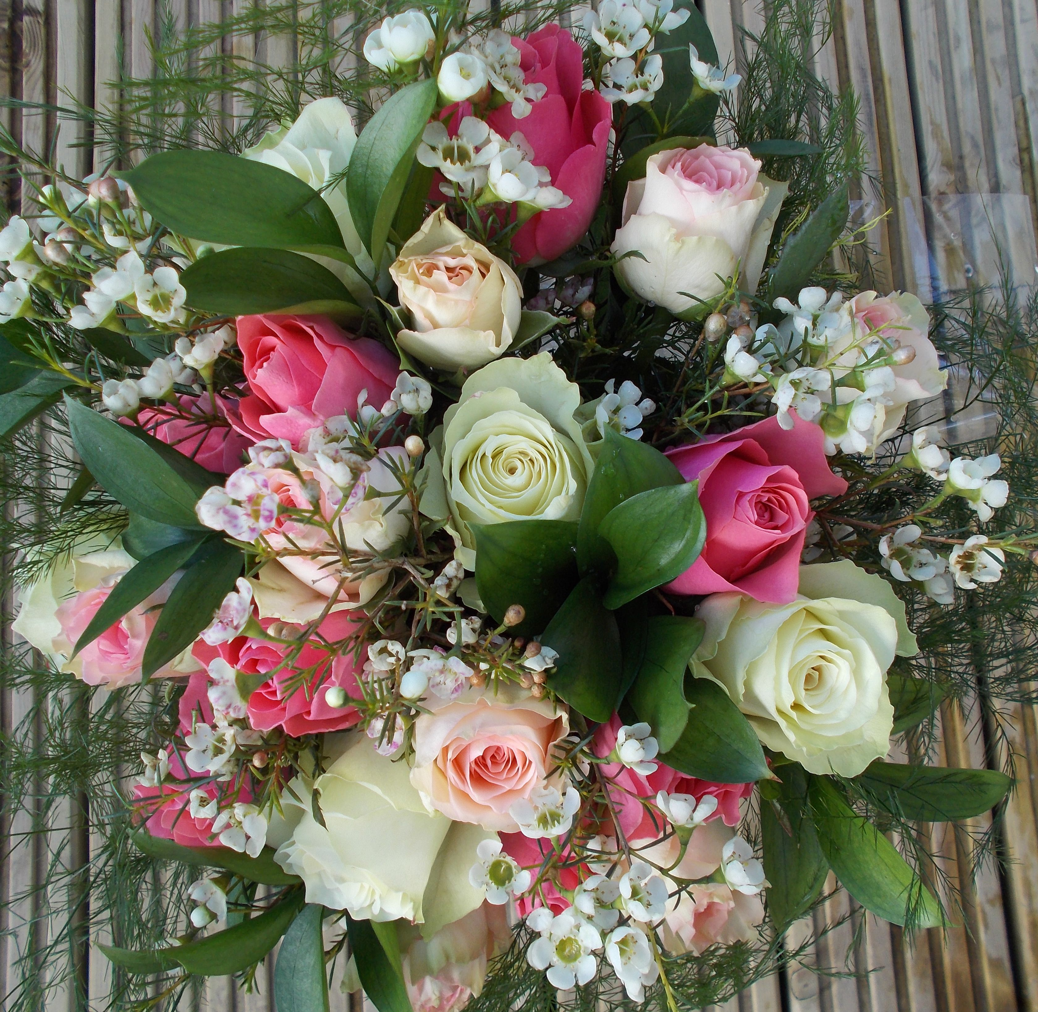 Wonderful roses and wax flower bouquet a gift to your door wonderful roses and wax flower bouquet a gift to your door arranged and delivered izmirmasajfo