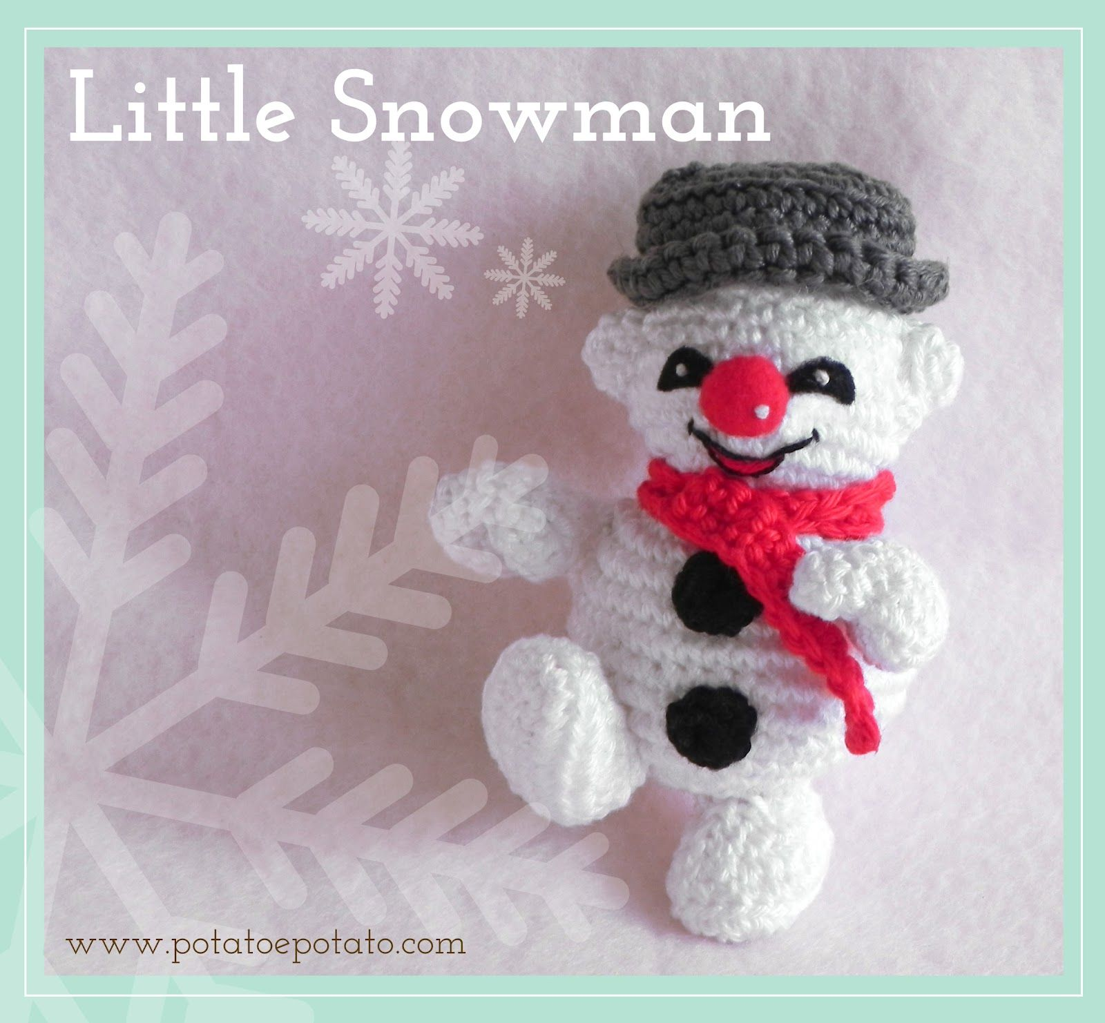 Potatoe Potato: Little Snowman free Pattern | haken kerst ...