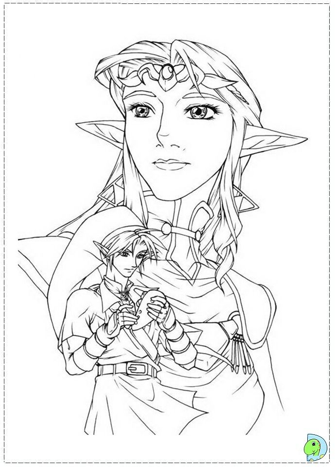 The Legend Of Zelda Coloring Page Coloring Pages Colouring Pages Color