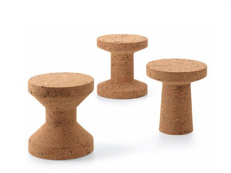 Sgabello in sughero cork family by vitra design jasper morrison