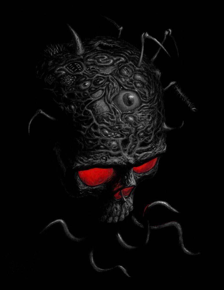 Very Dark Gothic Skulls | scary skull wallpapers | Skulls ...  Very Dark Gothi...