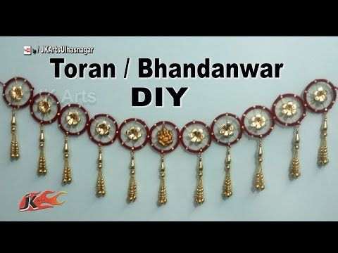 Diy toran bandhanwar from waste bangles how to make Home decoration with bangles