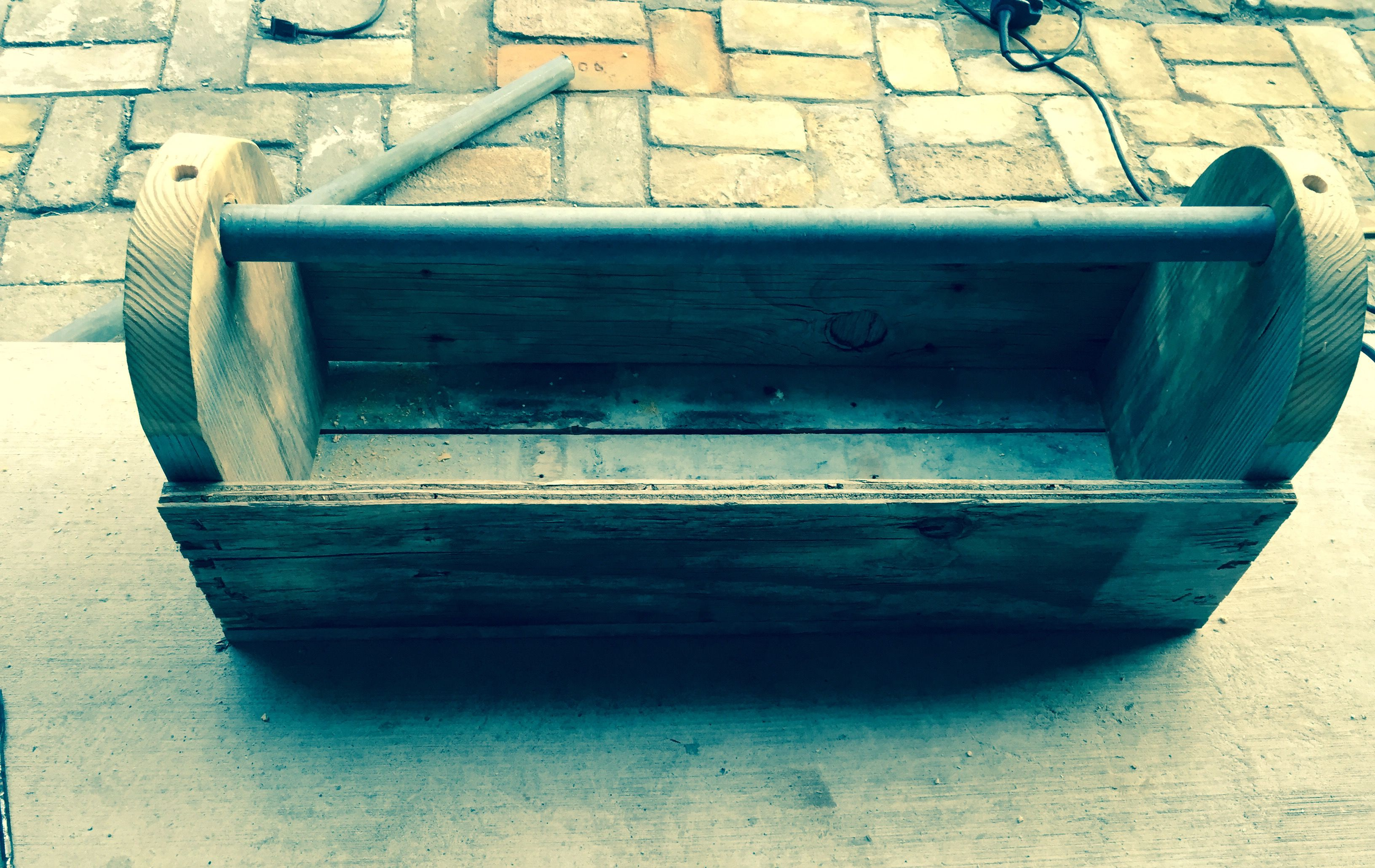 old world tool box. handcrafted from salvaged materials. contact me
