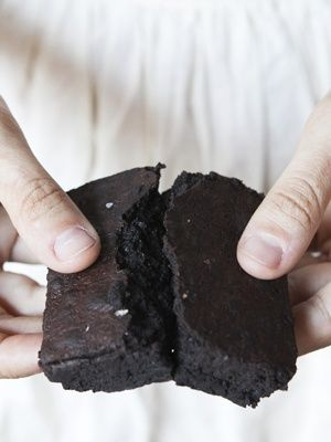 Salty Super Dark Chocolate Brownies