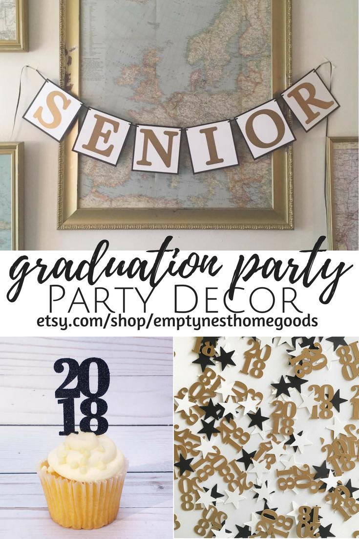 2018 Grad Party Ideas Gold White And Black Grad Party Monochrome