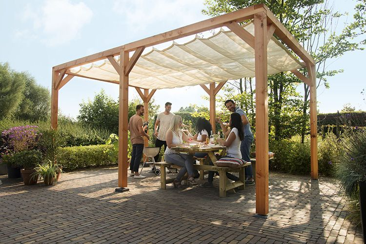 Woodvision Douglas Schaduwpergola Houtpakket Tuin Tuin Ideeen
