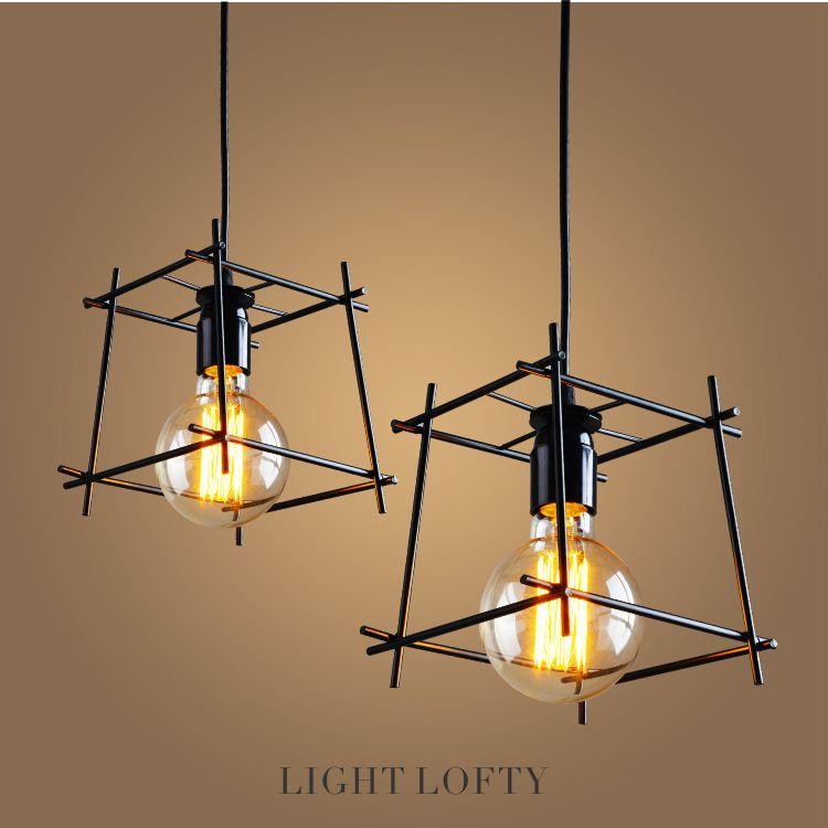 Comprar alambre de hierro colgante - Iluminacion estilo industrial ...