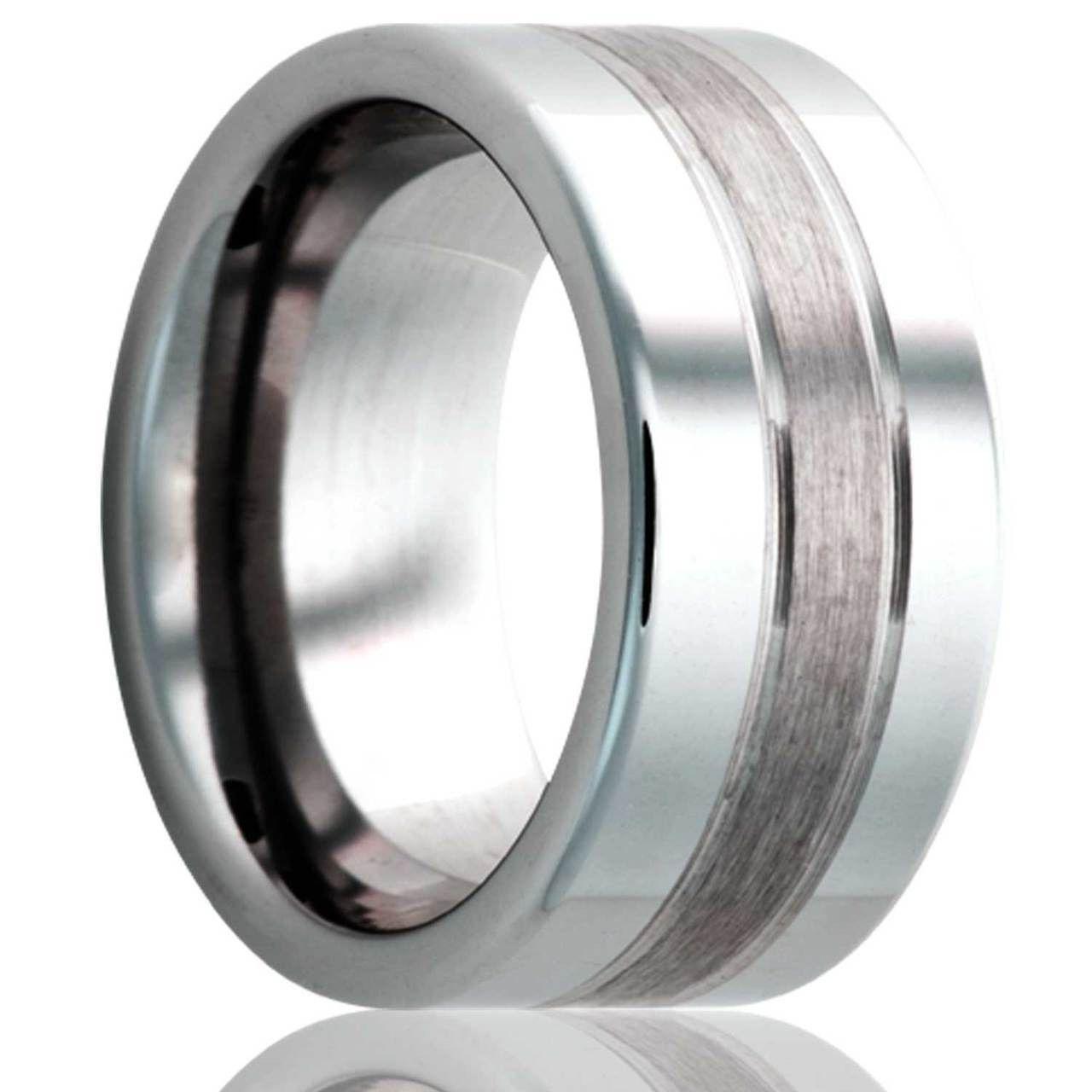 Tungsten Carbide Men Wedding Band Ring Grooved Center Beveled Satin Finish 6mm