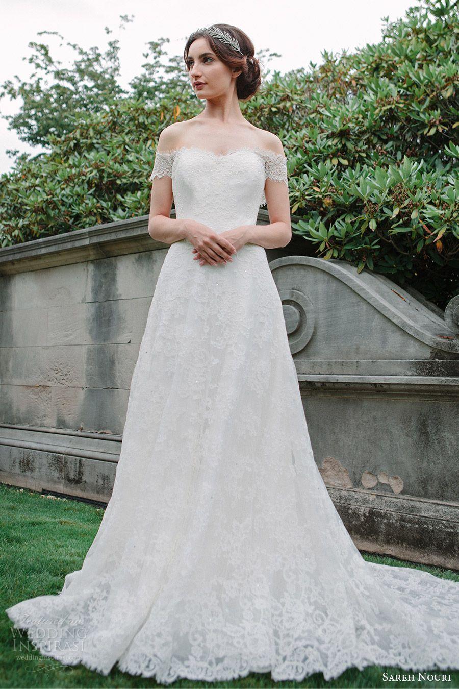 sareh nouri bridal fall 2016 short sleeves