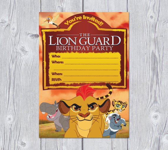 Lion Guard Invitation Instant Download Lion Guard Birthday