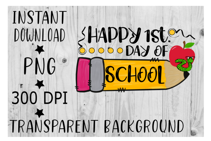 Happy First Day Of School Clipart Png 277709 Illustrations Design Bundles School Clipart First Day Of School School