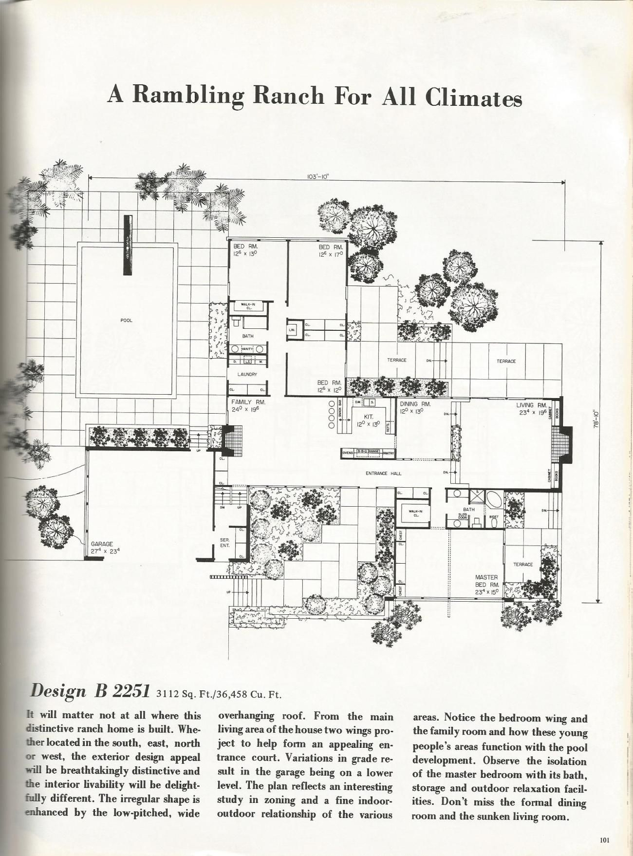 Vintage House Plans Luxurious Palatial Homes Vintage House Plans Vintage House Mid Century Modern House Plans