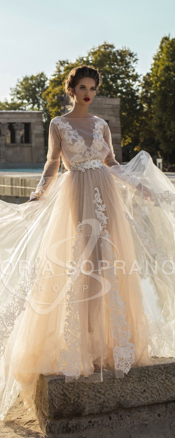 Vintage lace wedding dress with long sleeves weddings dresses