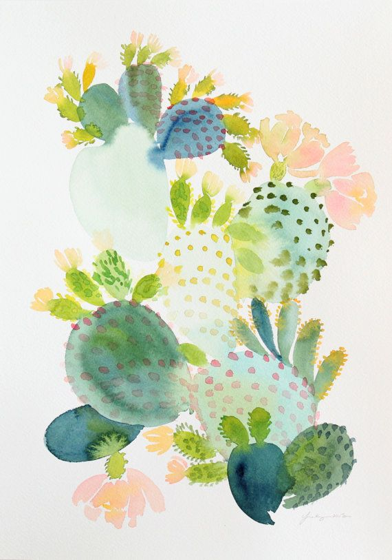 Hey, I found this really awesome Etsy listing at https://www.etsy.com/il-en/listing/243836829/10-x-14-cactus-original-painting