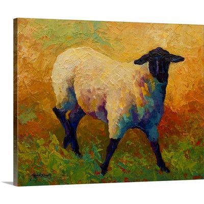 """Canvas On Demand 'Ewe Portrait IV' by Marion Rose Painting Print on Canvas Size: 16"""" H x 20"""" W x 1.25"""" D"""