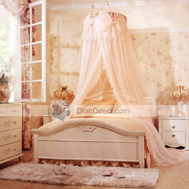 All Images Of Wholesale Ounuo Best Fashion Princess Round Ruffle Hanging Bed Canopy Net For Sale