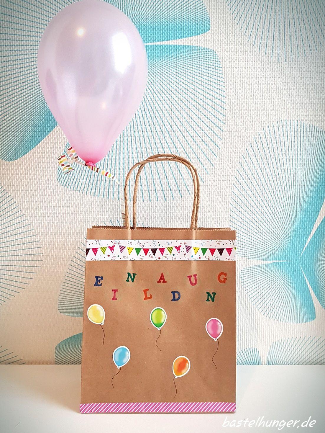 Einladung Zum Kindergeburtstag Beim Thema Luftballons.
