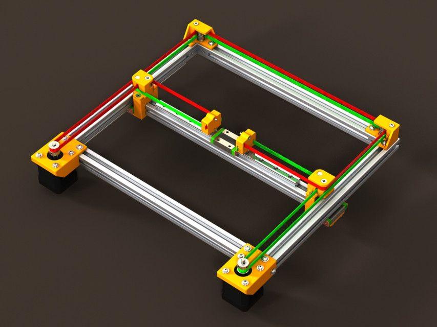 CoreXY Frame (v.2.0) - SOLIDWORKS - 3D CAD model - GrabCAD | CNC ...