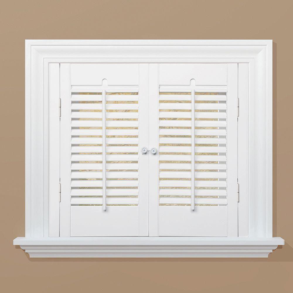 homeBASICS Traditional Real Wood Snow Interior Shutter (Price ...