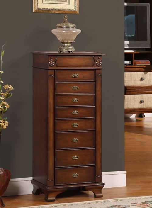 Riley Coffee Jewelry Armoire On Sale At Jewelryboxplus Com Jewelry Armoire Coffee Jewelry Jewelry Cabinet