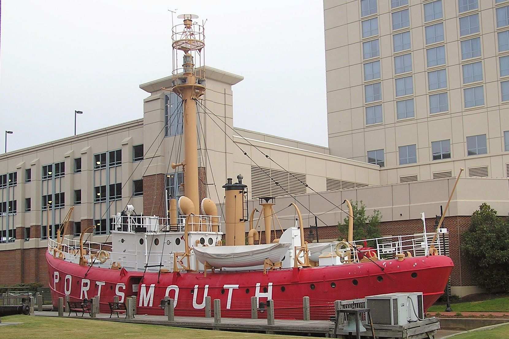 In 1964, she was retired to Portsmouth, Virginia and renamed according to the custom of naming lightships after the site where they are stationed